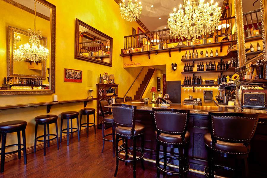 Vampire Lounge And Tasting Room Menu