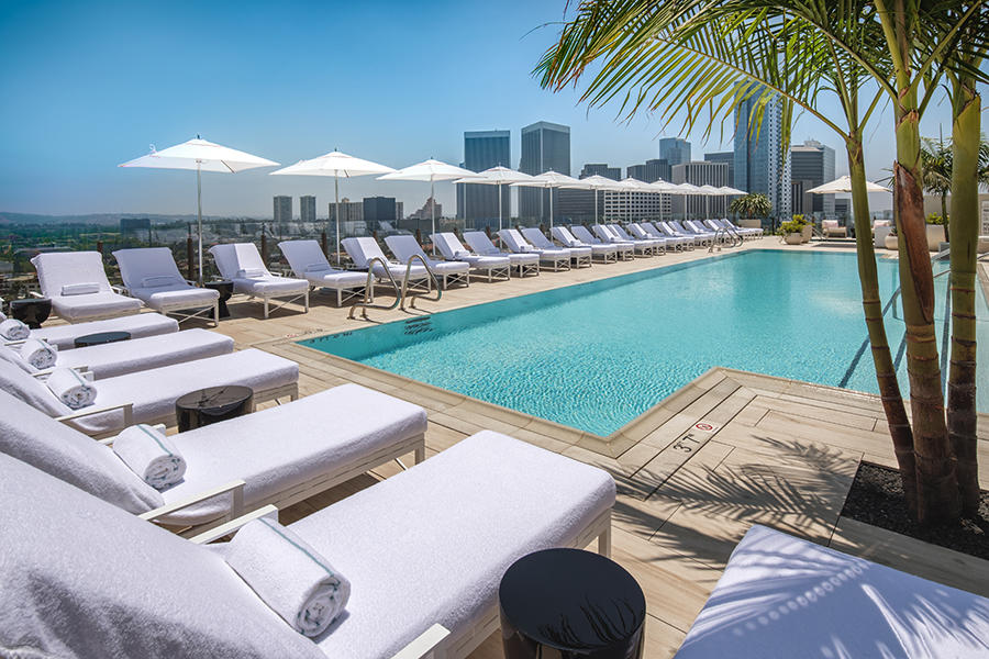beverly hills hotel pools